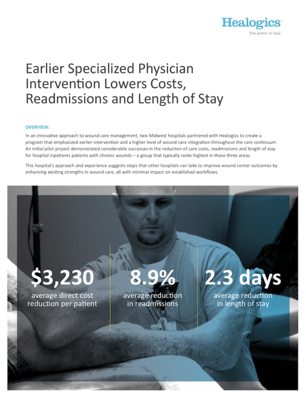 Download Earlier Specialized Physician Intervention Lowers Costs, Readmissions and Length of Stay
